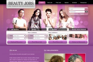 Дизайн сайта Beauty jobs